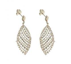 Women's Long Earrings in White Gold 803321736173