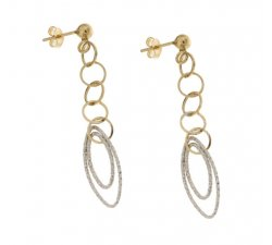 Orecchini Lunghi Donna in Oro Bianco e Giallo 803321729140