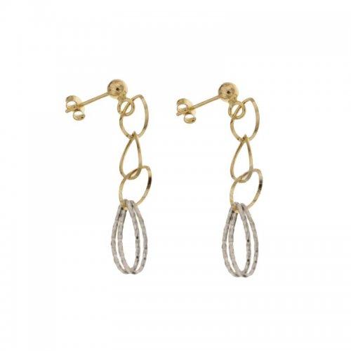 Orecchini Lunghi Donna in Oro Bianco e Giallo 803321729145