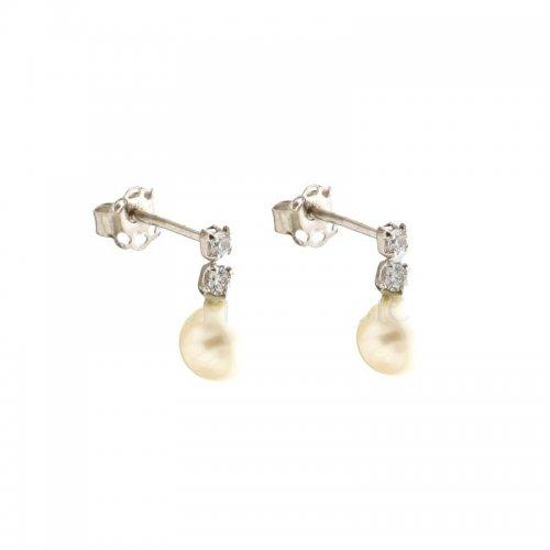 Orecchini Donna Perla in Oro Bianco 803321715900
