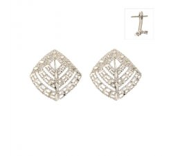 White Gold Woman Earrings 803321734574