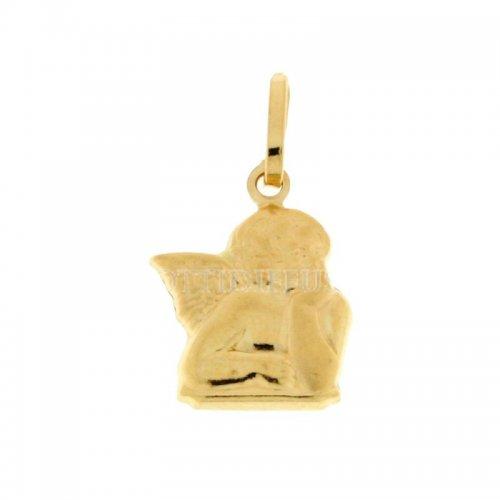 Yellow gold angel pendant 803321700437