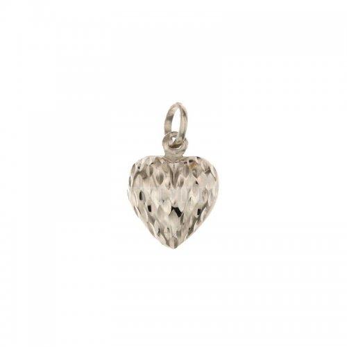White gold heart pendant 803321713702