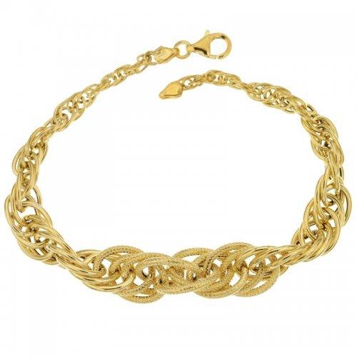 Yellow gold women's bracelet 803321705661