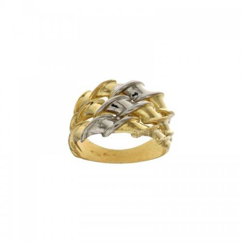 Yellow White Gold Woman Ring 803321714437