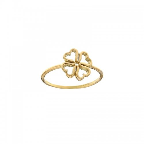 Four-Leaf Clover Woman Ring Yellow Gold 803321734421