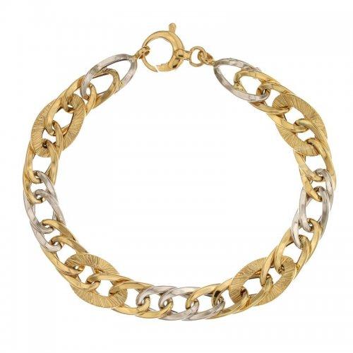 Women's Bracelet Yellow and White Gold 803321733699