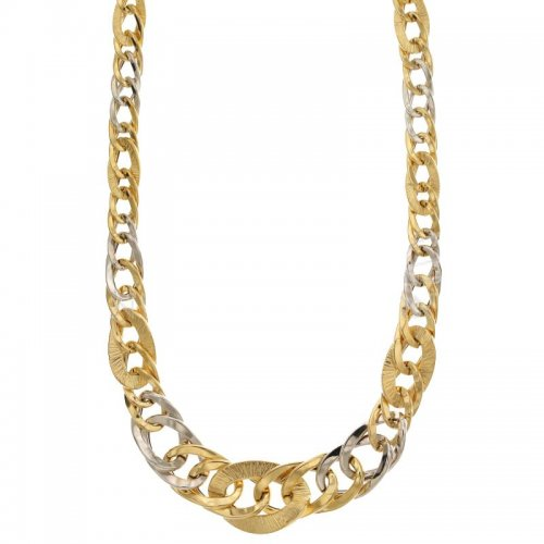 Yellow White Gold Woman Necklace 803321733666