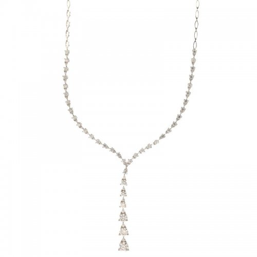 Women's Tennis Necklace White Gold 803321726709