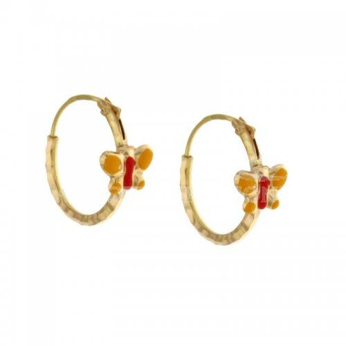 Little butterfly earrings in Yellow Gold 803321716802