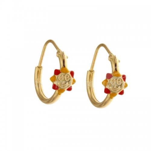 Sun girl earrings in Yellow Gold 803321716786