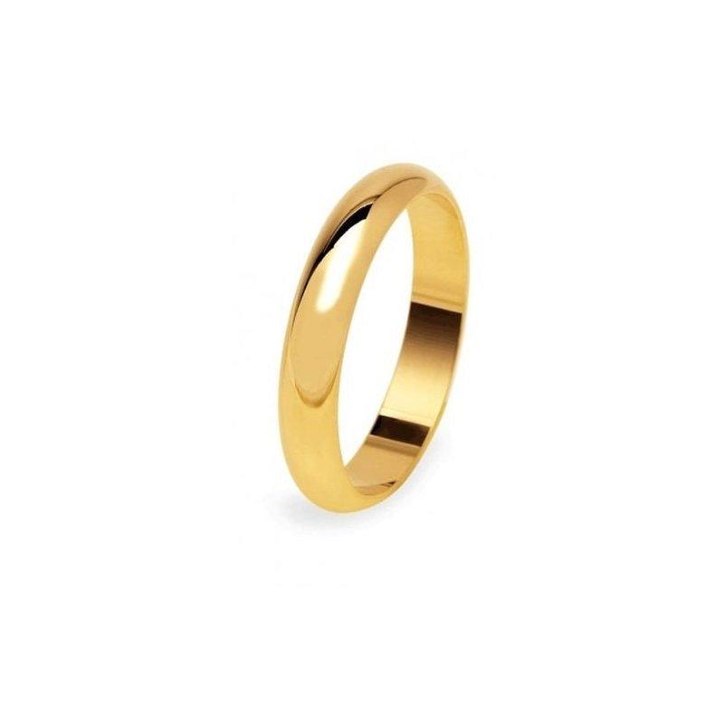 Molto Fede Nuziale UNOAERRE 5 grammi Oro giallo Classica Fascia Larga  YI44
