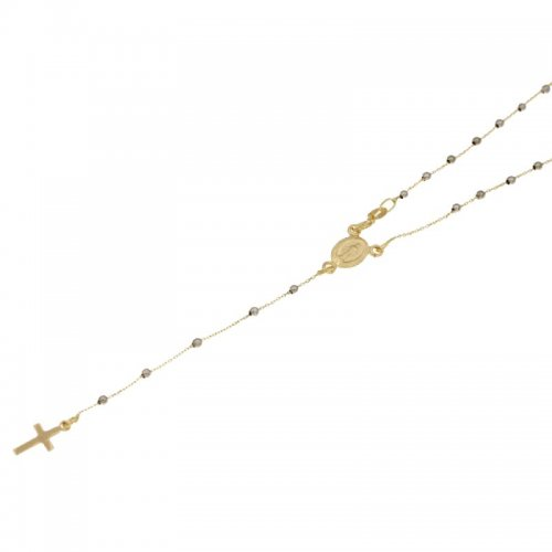 Miraculous Madonna Yellow Gold Rosary Necklace 803321716825