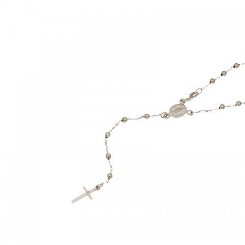 Collana Rosario Oro Bianco Madonna Miracolosa 803321716845
