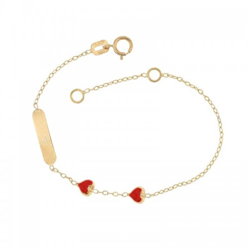 Yellow gold girl's bracelet 803321710417