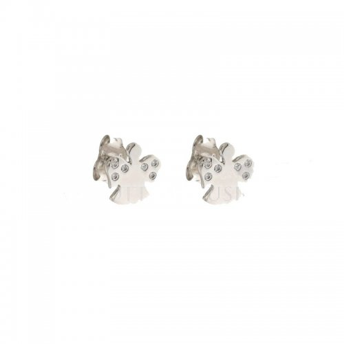 Earrings with Woman Angels in White Gold 803321707556