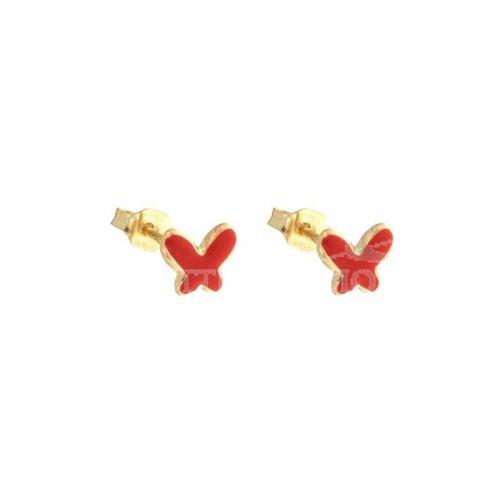 Orecchini bambina farfalle in Oro Giallo 803321711127