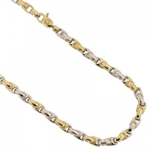 Yellow and White Gold Men's Necklace 803321717789