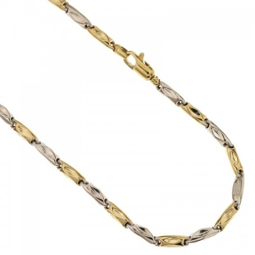 Yellow and White Gold Men's Necklace 803321717879