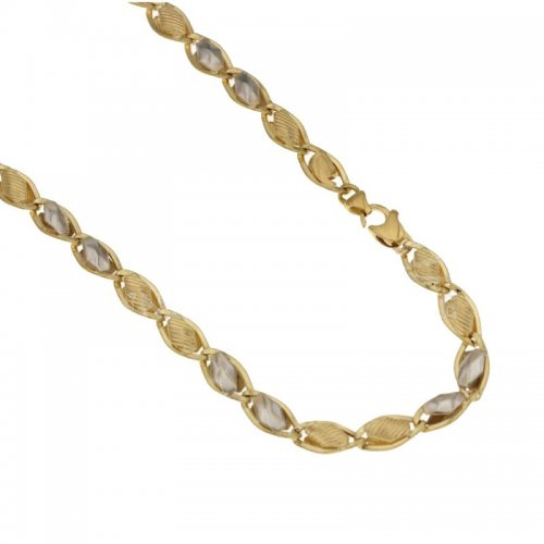 Yellow and White Gold Men's Necklace 803321712135
