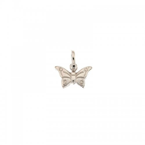 White gold butterfly pendant 803321734954