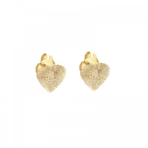 Woman Earrings in Yellow Gold Hearts 803321700562