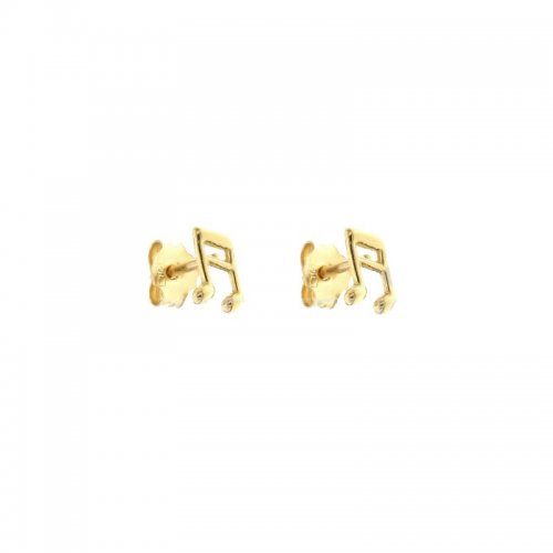Woman Earrings with Musical Notes Yellow Gold 803321732651