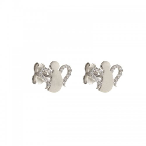 Woman earrings with angels White gold 803321730107