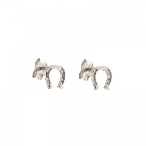 Women horseshoe earrings White gold 803321734975