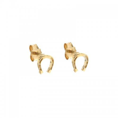 Woman Earrings with Horseshoe Yellow Gold 803321734974