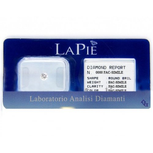 Diamante in blister certificato La Pie' 0.12 ct BL12