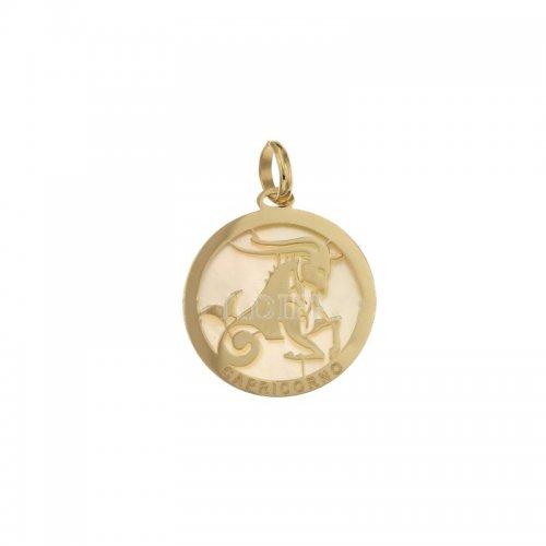 Capricorn Zodiac Sign Pendant in Yellow Gold 803321733010