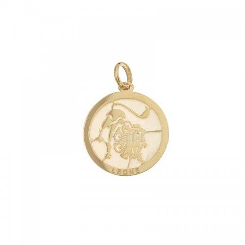 Ciondolo Segno Zodiacale Leone in Oro Giallo 803321733004
