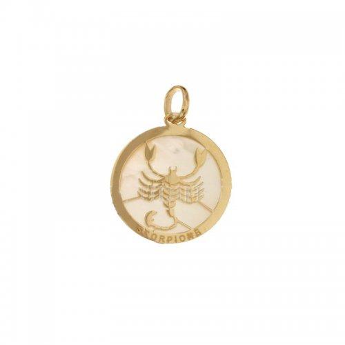 Ciondolo Segno Zodiacale Scorpione in Oro Giallo 803321733008