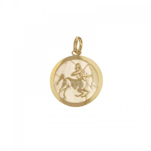 Sagittarius Zodiac Sign Pendant in Yellow Gold 803321733009