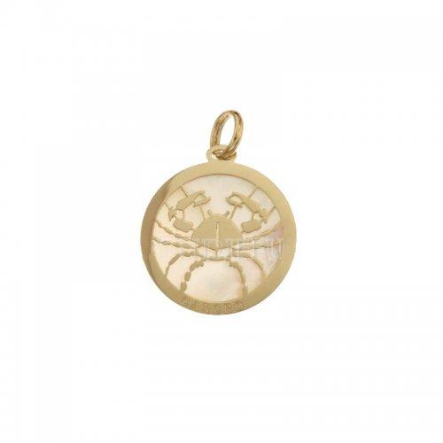 Ciondolo Segno Zodiacale Cancro in Oro Giallo 803321733005