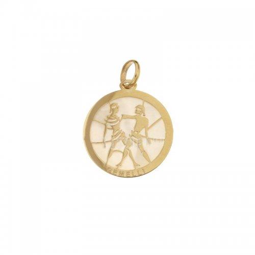 Ciondolo Segno Zodiacale Gemelli in Oro Giallo 803321733003