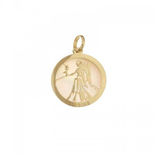 Ciondolo Segno Zodiacale Vergine in Oro Giallo 803321733006