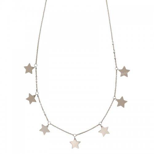 Collana Donna con stelle in Oro Bianco 803321737227