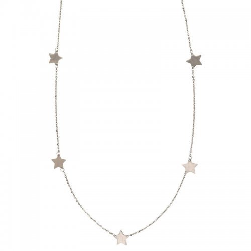 Collana Donna con stelle in Oro Bianco 803321737237