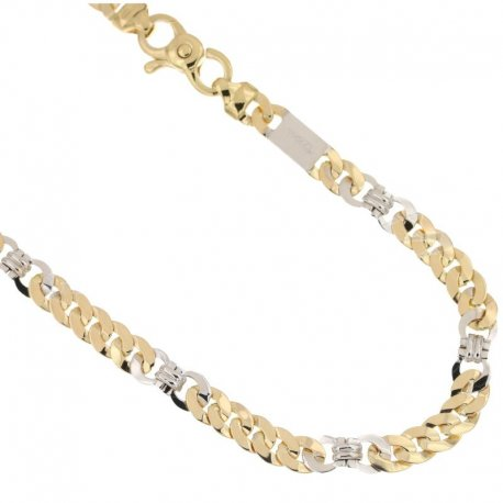 Yellow and White Gold Men's Necklace 803321736646
