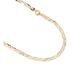 Yellow and White Gold Men's Necklace 803321735532