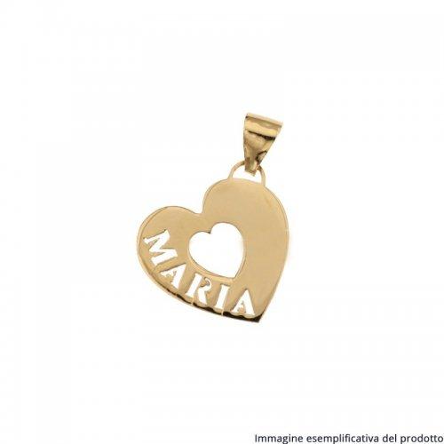Ciondolo Oro Giallo Cuore Nome Personalizzabile 803321732821