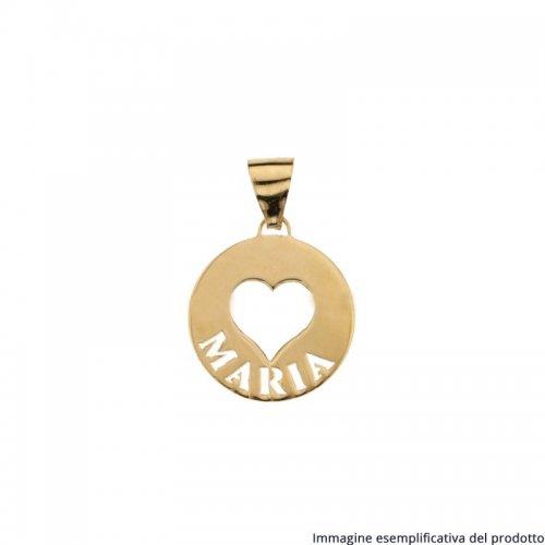 Ciondolo Oro Giallo Cuore Nome Personalizzabile 803321732820