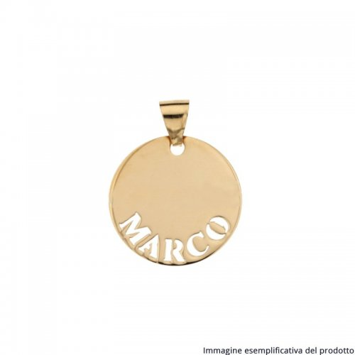 Ciondolo Oro Giallo Nome Personalizzabile 803321732817