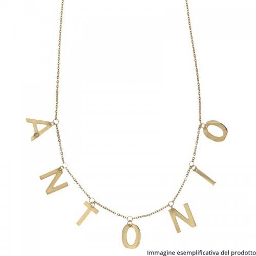 Collana Oro Giallo Lettere Pendenti Nome Personalizzabile 803321737212