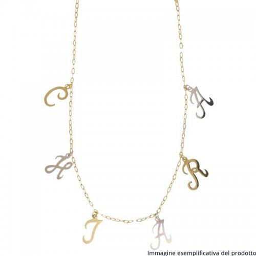 Collana Oro Giallo Lettere Pendenti Nome Personalizzabile 803321736924