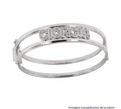 White Gold Bracelet Customizable Name 803321725914