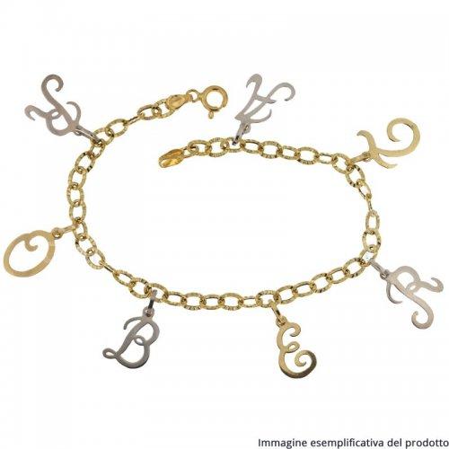Bracciale Oro Giallo Bianco Nome Personalizzabile 803321736923