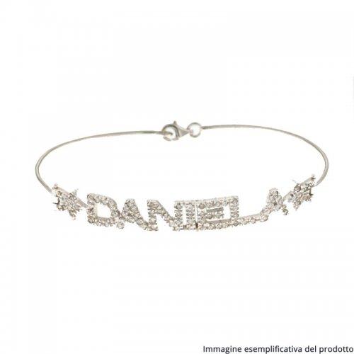 White Gold Bracelet Customizable Name 803321712098